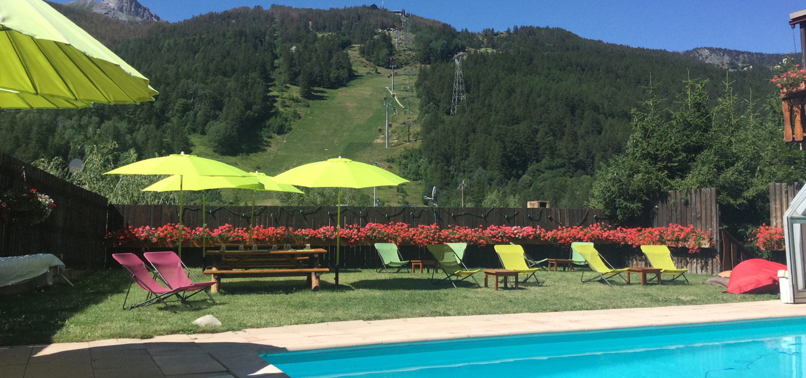 Plein Sud hotel open in the summer with heated swimming pool